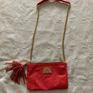 Juicy Couture Slim nylon & chain crossbody purse